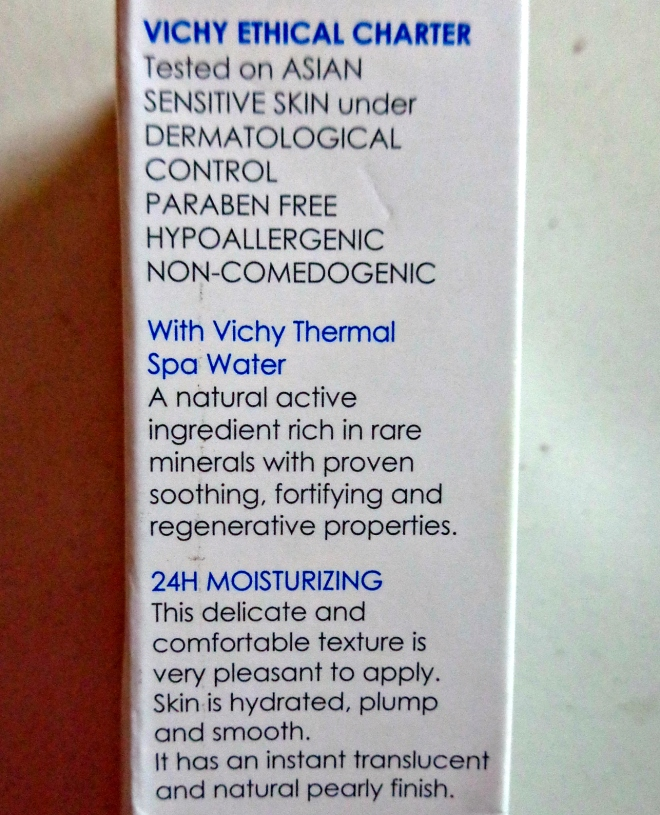 Vichy product Review